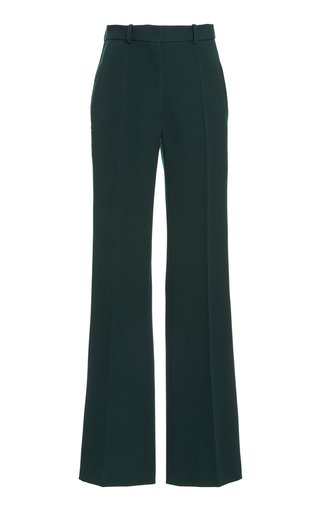 High-Rise Flared Wool Pants