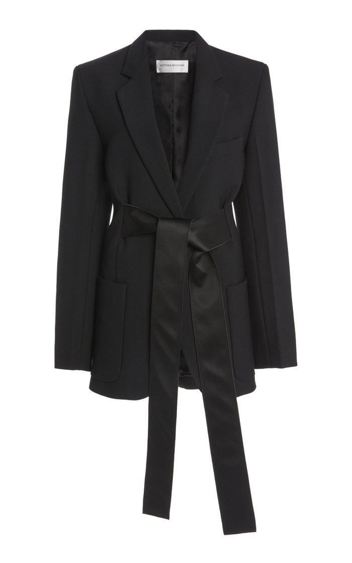Satin-Trimmed Cady Tuxedo Jacket