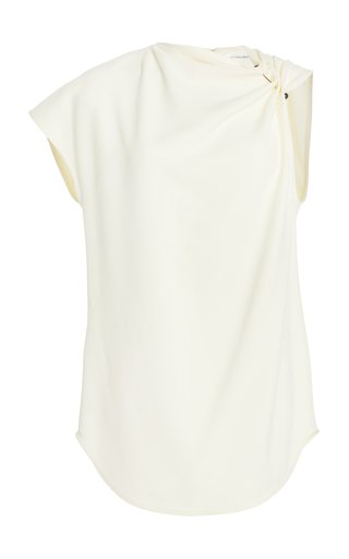 One-Shoulder Crepe Top