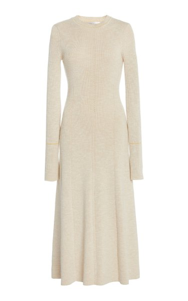 Fitted Cotton-Blend Dress