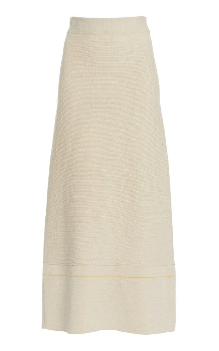 A-Line Cotton-Blend Skirt
