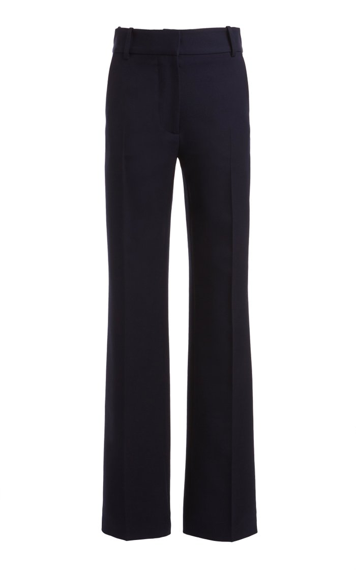 Straight-Leg Wool Trouser