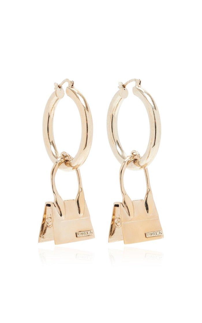 Los Creoles Chiquito Gold-Tone Hoop Earrings