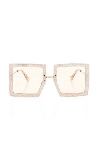 Les Carrees Oversized Square-Frame Acetate Sunglasses