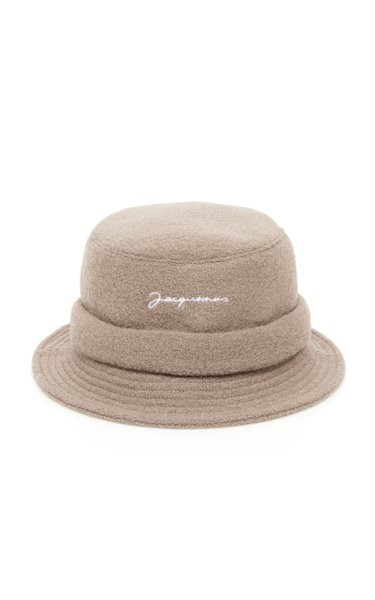 Le Bob Embroidered Wool Bucket Hat