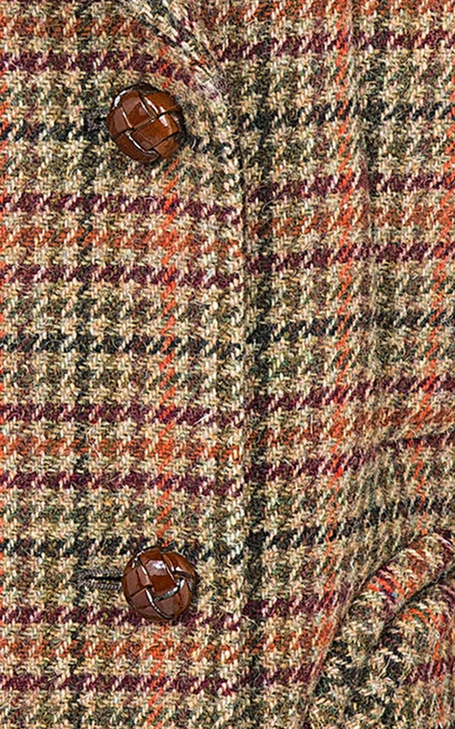 Flying Fox Sealady Double-Breasted Checked Wool Blazer