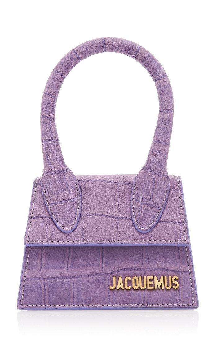 Le Chiquito Croc-Effect Leather Top Handle Bag
