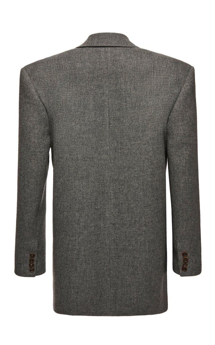 Wool-Cashmere Double-Breasted Blazer