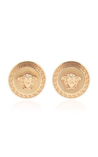 Tribute Medusa-Engraved Gold-Tone Stud Earrings