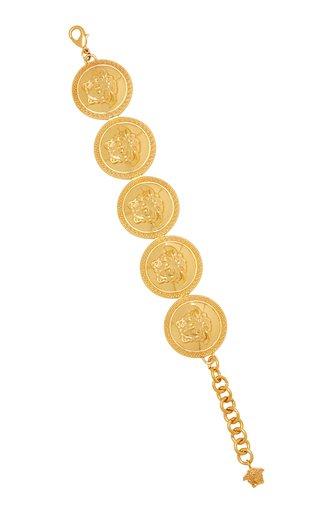 Medusa Gold-Tone Coin Bracelet