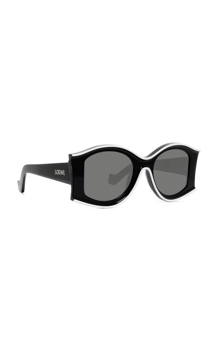 Paula's Ibiza Round-Frame Acetate Sunglasses