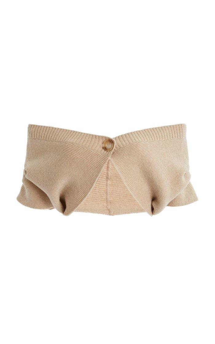 Valerie Off-The-Shoulder Wool-Blend Top