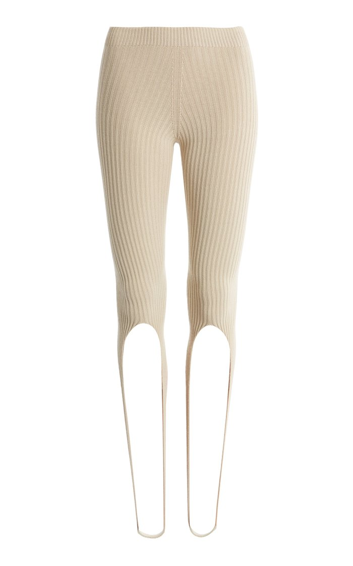 Albi Ribbed-Knit Stirrup Pants