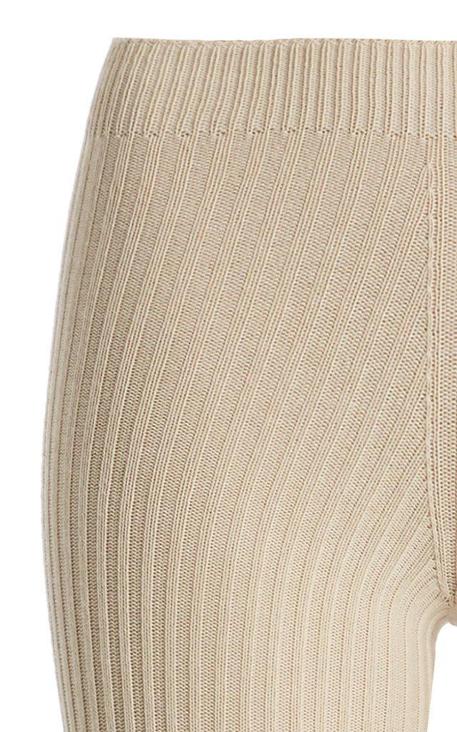 Albi Ribbed-Knit Stirrup Pants