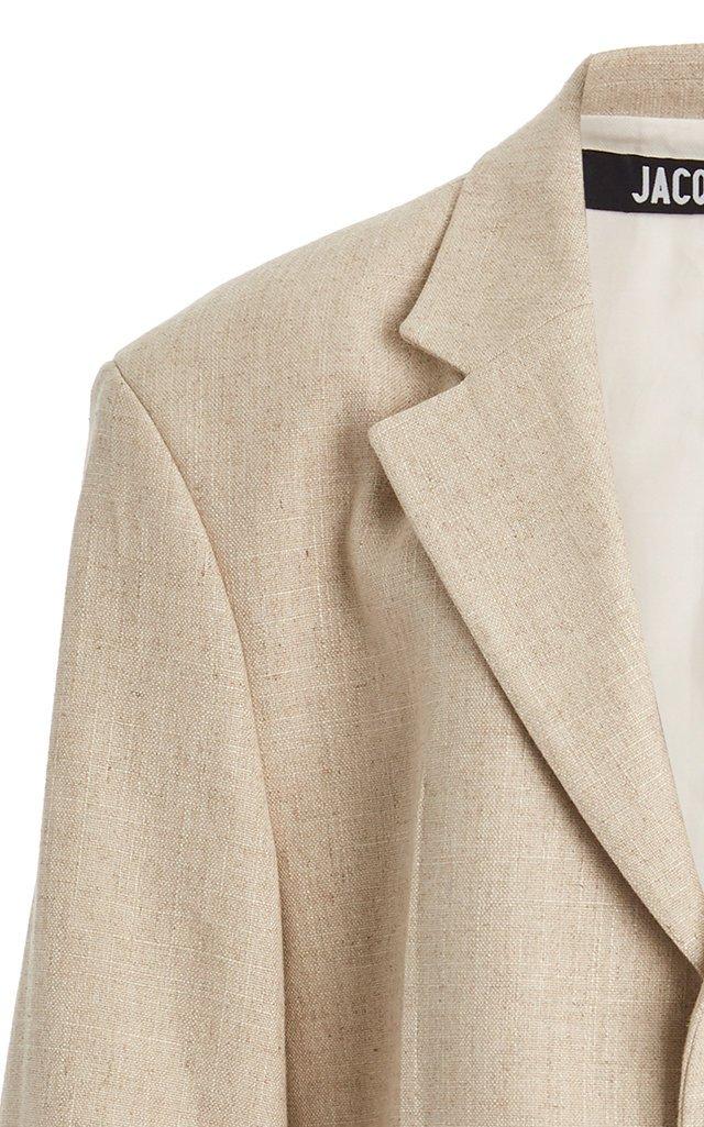 Oversized Linen-Blend Blazer