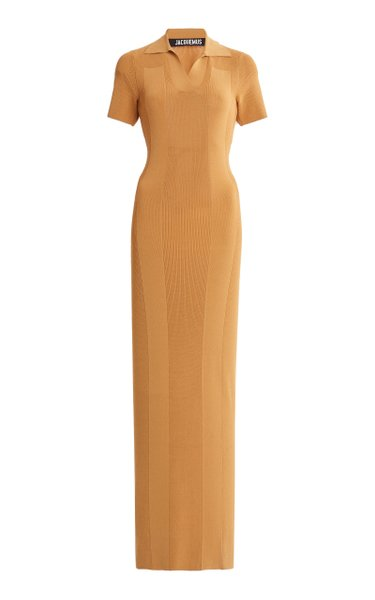 Stretch-Knit Maxi Dress