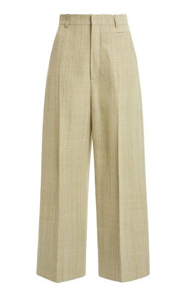 Santon Silk-Blend Straight-Leg Trousers