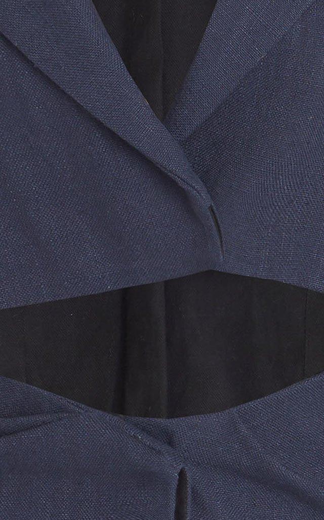 Arles Cutout Woven Mini Dress