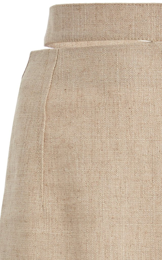 Valerie Cutout Woven Pencil Skirt