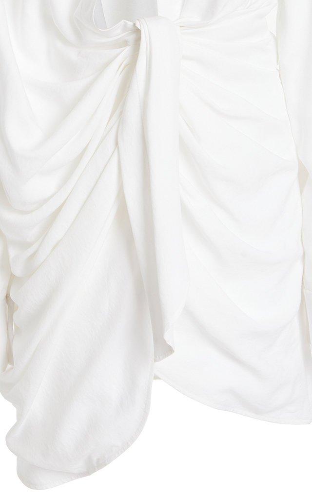 Bahia Gathered Crepe Mini Dress