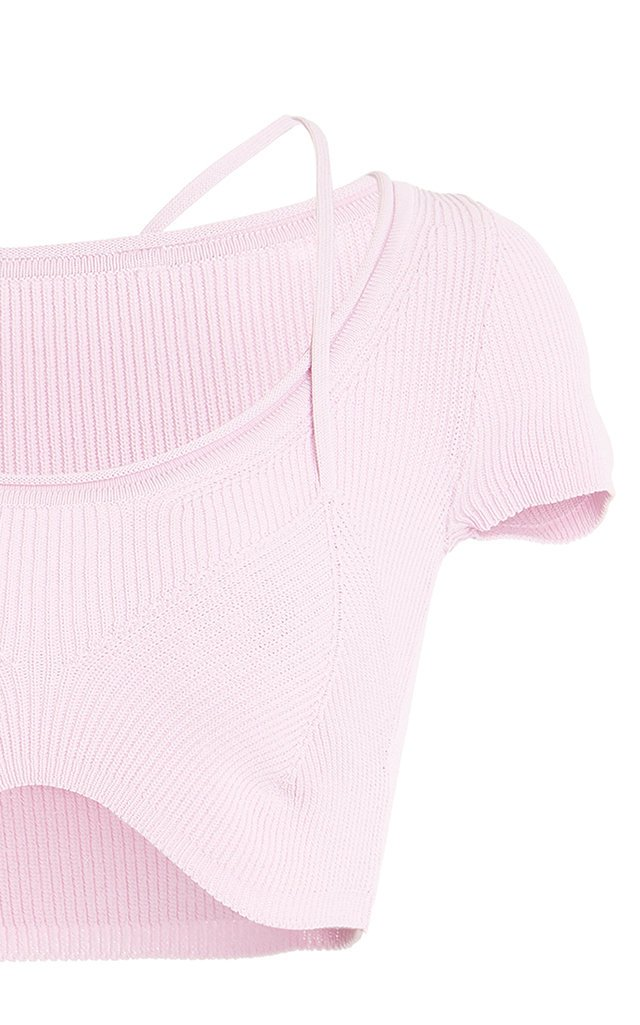 Lauris Ribbed-Knit Crop Top