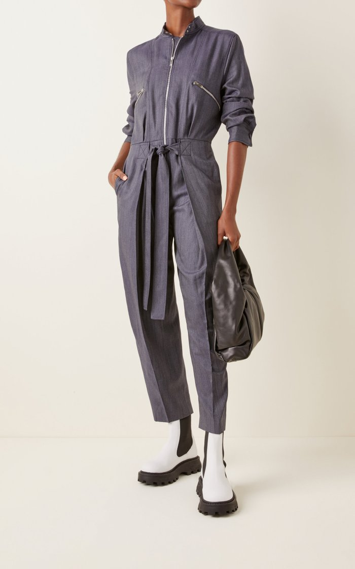 Brielle Belted Tapered Jumpsuit