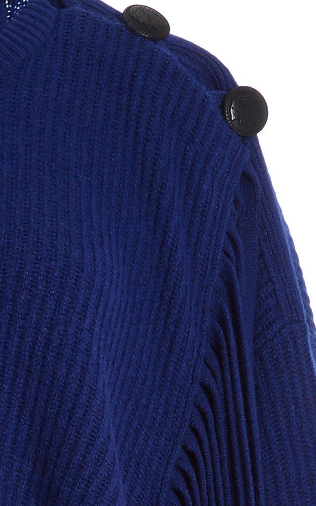 Oversized Fringed Cashmere-Blend Sweater