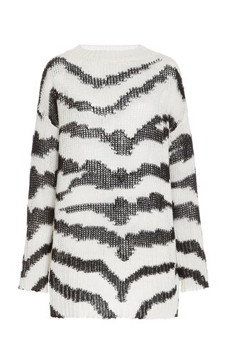 Oversized Intarsia Wool-Blend Sweater
