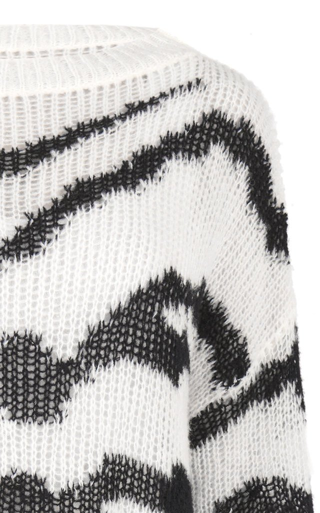 Oversized Intarsia Wool-Blend Sweater
