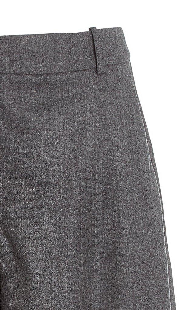 Dawson Cropped Wool Straight-Leg Pants