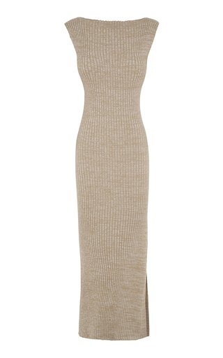 Specialorder-Drew Ribbed Cotton Maxi Dress-AME