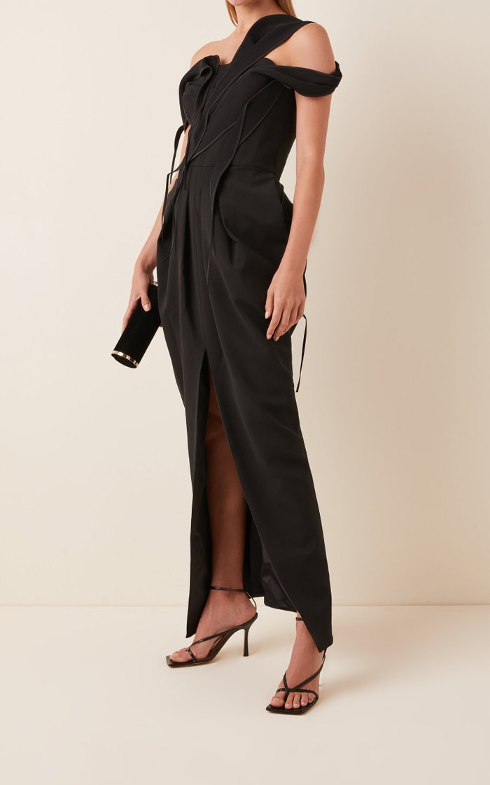 Abide Draped Cady Gown