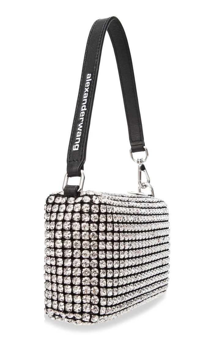 Wangloc Crystal-Embellished Mini Top Handle Bag