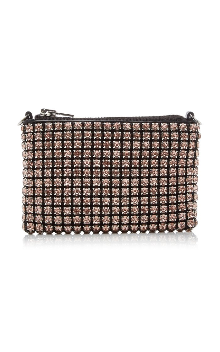 Wangloc Nano Crystal-Embellished Leather Pouch
