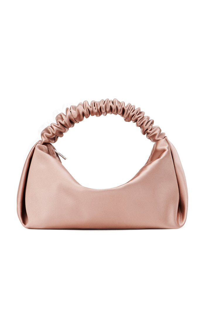 Mini Scrunchie Satin Top Handle Bag