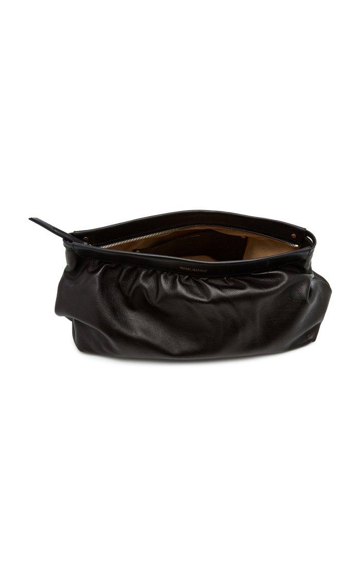 Luz Studded Leather Clutch