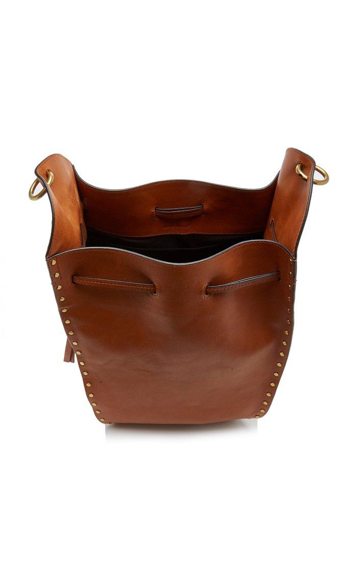 Taj Studded Leather Drawstring Bag