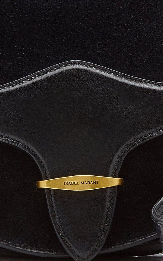 Botsy Leather and Suede Shoulder Bag