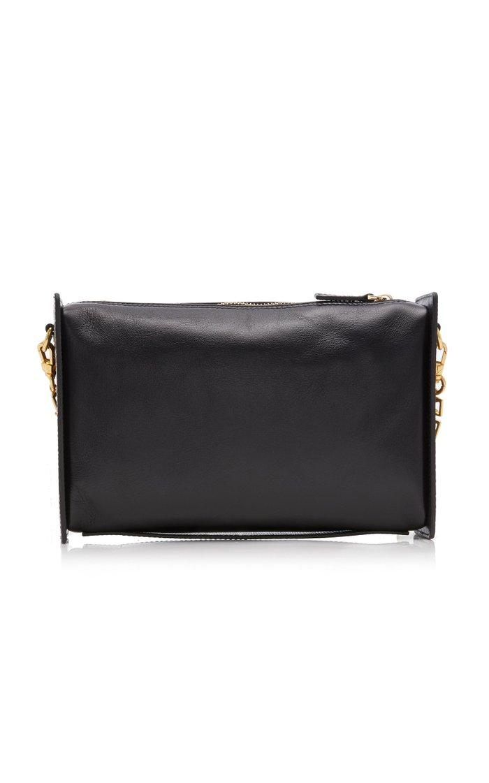 Carmen Paneled Textured-Leather Shoulder Bag
