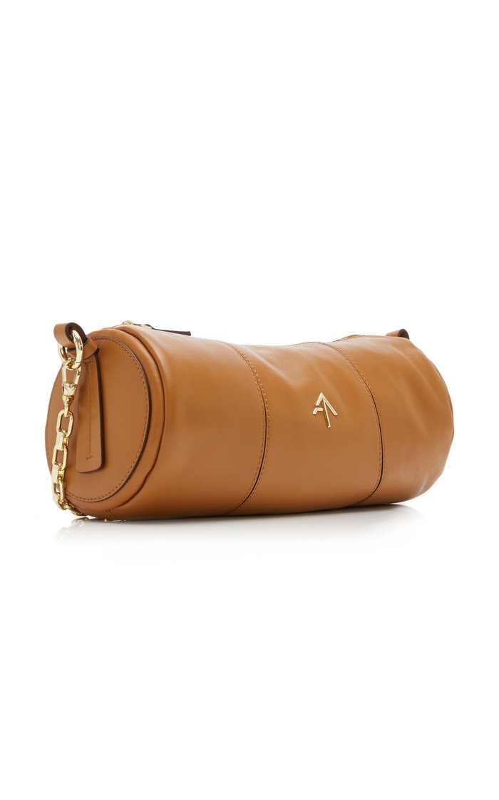 Cylinder Leather Shoulder Bag