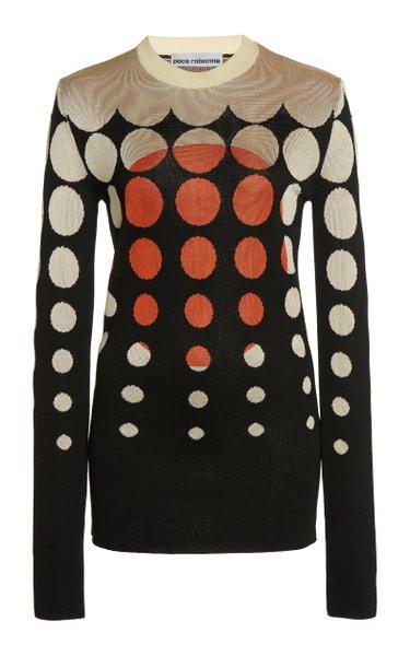 Jacquard-Knit Sweater