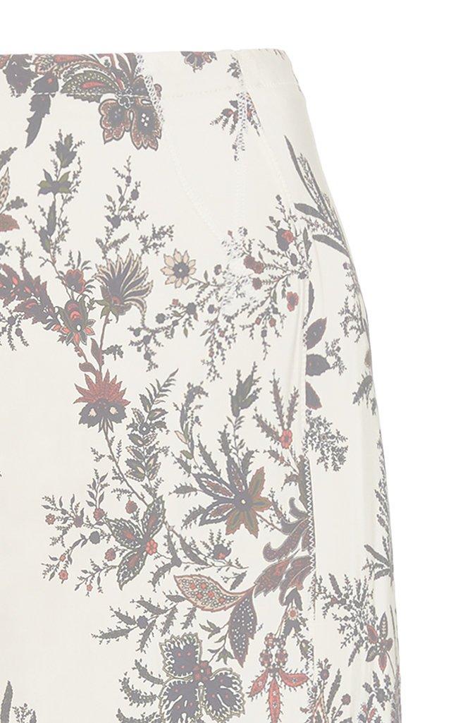 Floral-Print Cady Pencil Skirt
