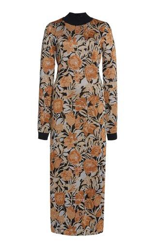 Jacquard Lurex Midi Dress