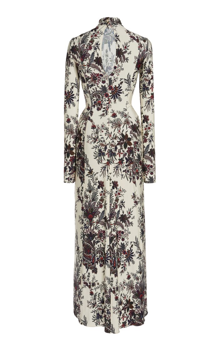 Floral-Print Stretch-Jersey Maxi Dress