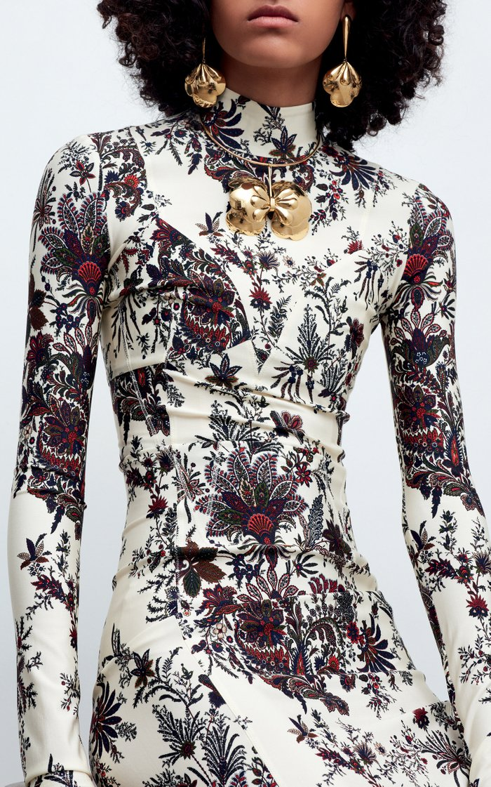 Floral-Print Stretch-Jersey Maxi Dress