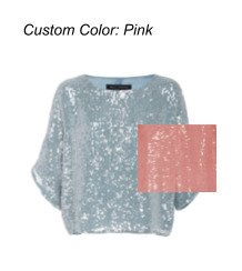 SpecialOrder-Custom Sequined Crepe Top-SS