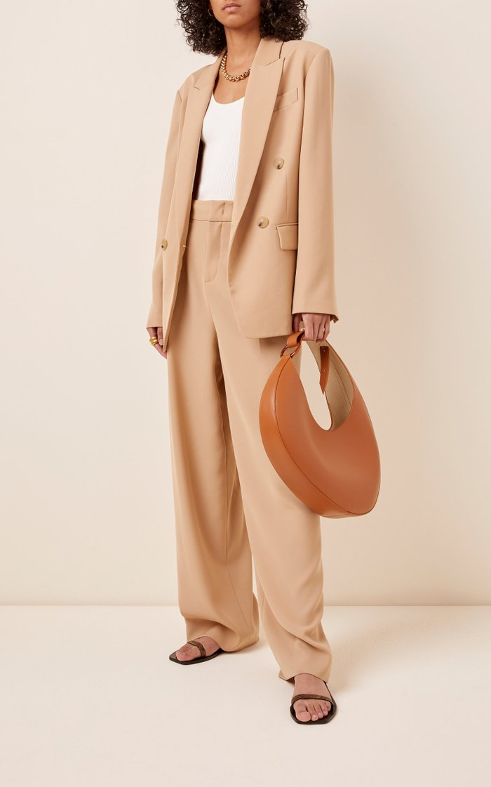 Ostra Leather Top Handle Bag