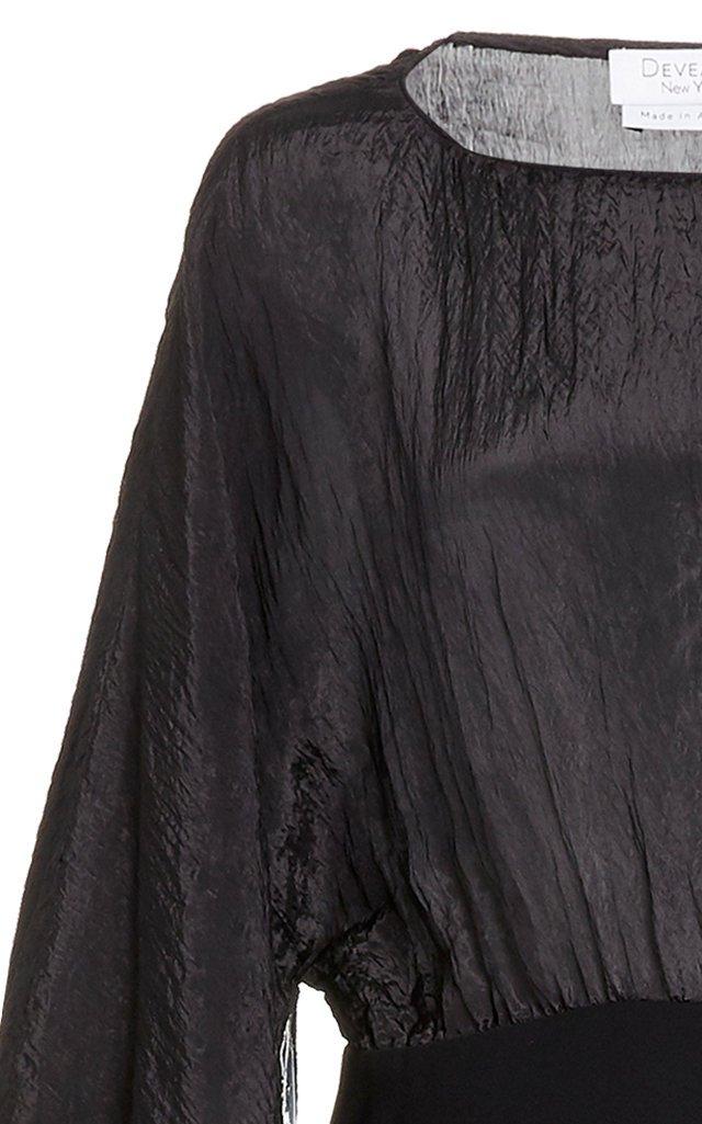 Nora One-Shoulder Broadcloth Dress