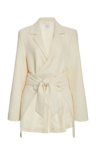 Cate Wrap-Effect Woven Jacket