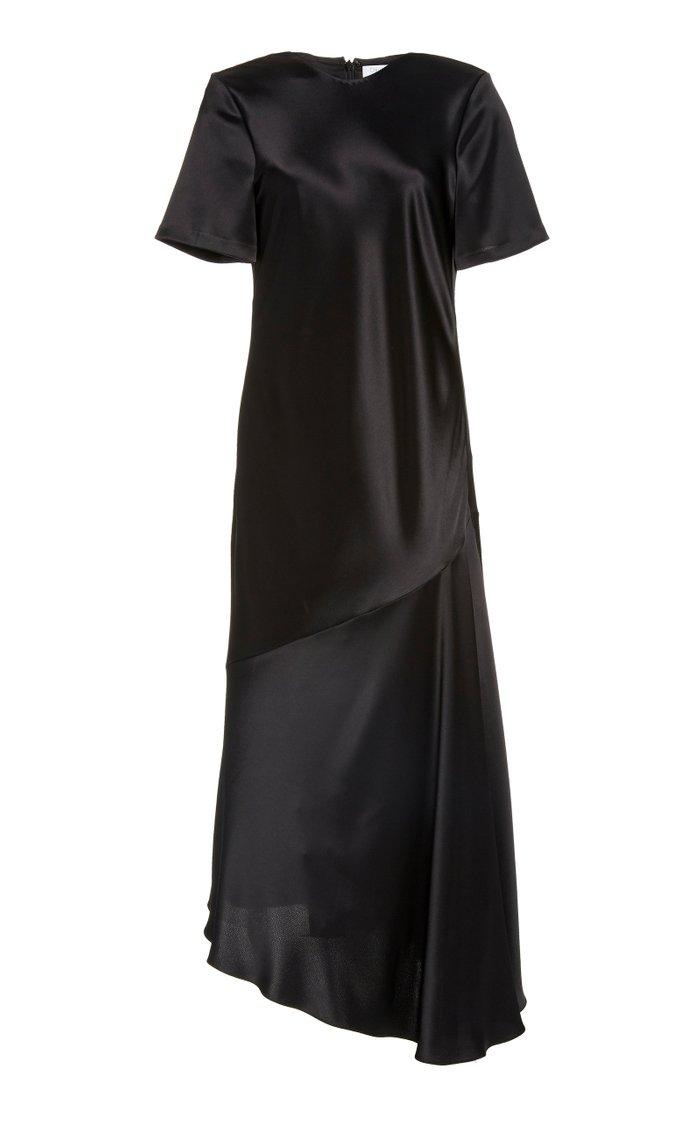Ophelia Asymmetric Satin Dress